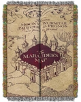 Marauder's Map Tapestry Throw