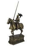 Medieval Knight & Horse on Decorative Base