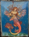 Mermaid Fairy Tapestry Throw Blanket