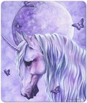 Moonlit Magic Unicorn Mouse Pad