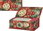 Poinsettia Onraments Music Box with Soap