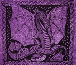 Night Dragon Tapestry