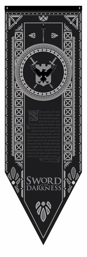 Night's Watch Tournament Banner Flag - Game of Thrones