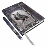 Owl Spell Book Embossed Journal with Pen