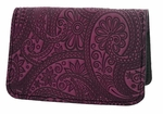 Paisley Leather Card Holder