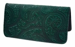 Paisley Leather Checkbook Cover