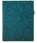 Paisley Leather Composition Notebook