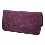 Paisley Leather Smart Phone Wallet