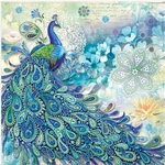 Paisley Peacock Luncheon Napkins