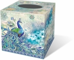 Paisley Peacock Tissue Box Cover
