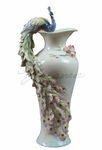 Peacock & Prunus Vase