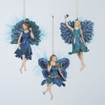 Peacock Fairy Ornament Set