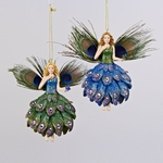 Peacock Feather Fairy Ornaments