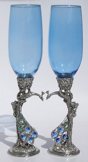 Peacock Heart Flutes