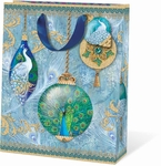 Peacock Ornament Large Gift Bag
