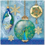 Peacock Ornaments Luncheon Napkins