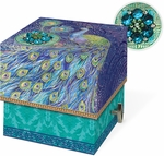 Peacock Square Music Box Soap