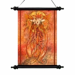 Phoenix Rising Fairy Art Scroll