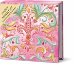 Pink Fleur de Lis Compact Mirror with Note Pad