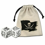 Pirate Dice Bag with two pirate dice