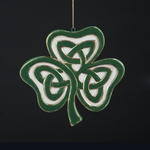 Porcelain Celtic Clover Ornament