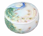 Porcelain Peacock Trinket Box
