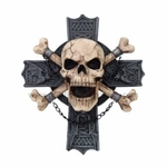 Hell Rider Cross Bones Plaque