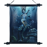 Mermaid Hunt Art Scroll