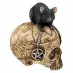 Salem Witch Skull with Mouse