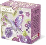 Purple Butterfly Green Tea Pleat-Wrapped Soap