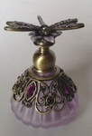 Purple Dragonfly Perfume Bottle