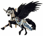 Raven Black Carousel Horse Ornament