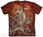 Red Glow Wolves T-Shirt
