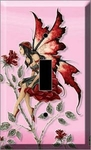 Red Rose Fairy Light Switch Plate