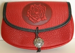 Rose Leather Belt Pouch (Wide)