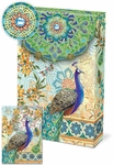 Royal Peacock Decorative Pouch Note Cards