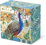 Royal Peacock Green Tea Pleat-Wrapped Soap