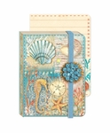 Seahorse Shells Brooch Pocket Journal