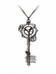 Steampunk Gearwheel Key Pendant