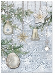 Silver Ornaments Christmas Cards