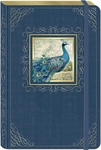 Sitting Peacock Large Bungee Journal