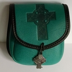 Celtic Cross Leather Belt Pouch (Small)