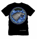 'Stained Glass' Stark Shirt: Game of Thrones