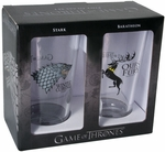 Stark & Baratheon Pint Glass Set: Game of Thrones
