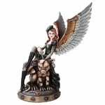 Steampunk Fairy with Gargoyle