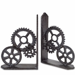 Steampunk Gears Book Ends