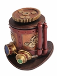 Steampunk Machinery Hat Box