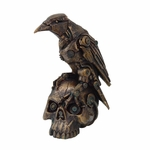 Steampunk Raven on Skull