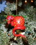 Strawberry Wyrm Ornament