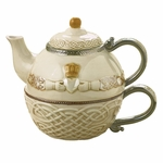 Celtic Tea for One Teapot & Cup